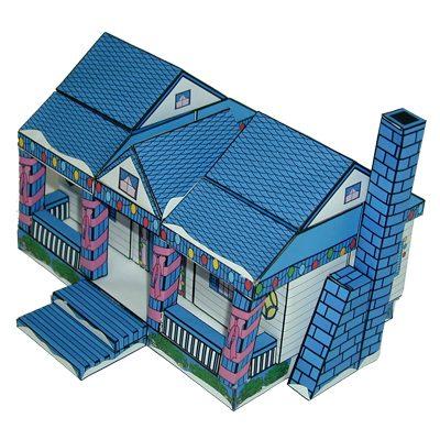 בית כפרי כחול